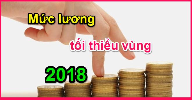 mức lương tối thiểu vùng 2018