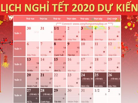 lich nghi tet 2020