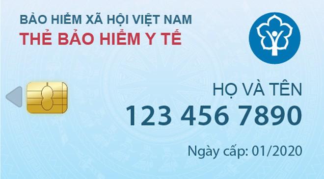 Thẻ bảo hiểm y tế điện tử
