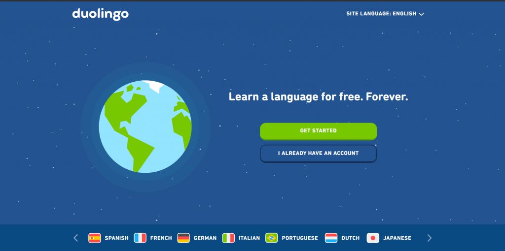 duolingo - website bổ ích