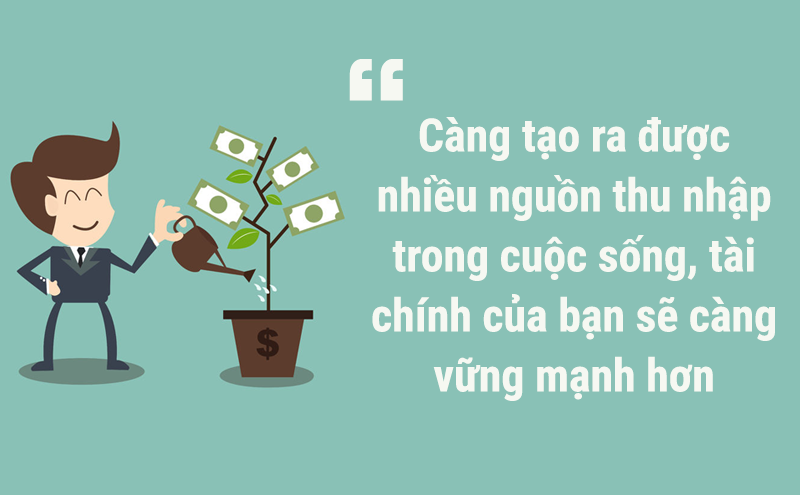 Tạo ra nhiều nguồn thu nhập để nhanh chóng trở nên giàu có