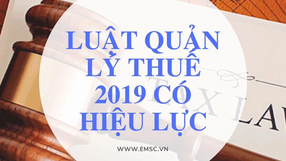 luat quan ly thue 2019 HIEU LUC