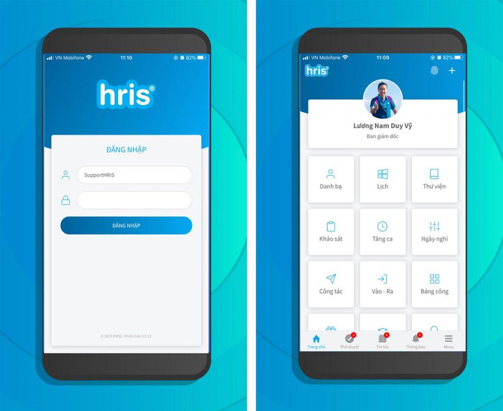 App chấm công trên điện thoại - HRIS