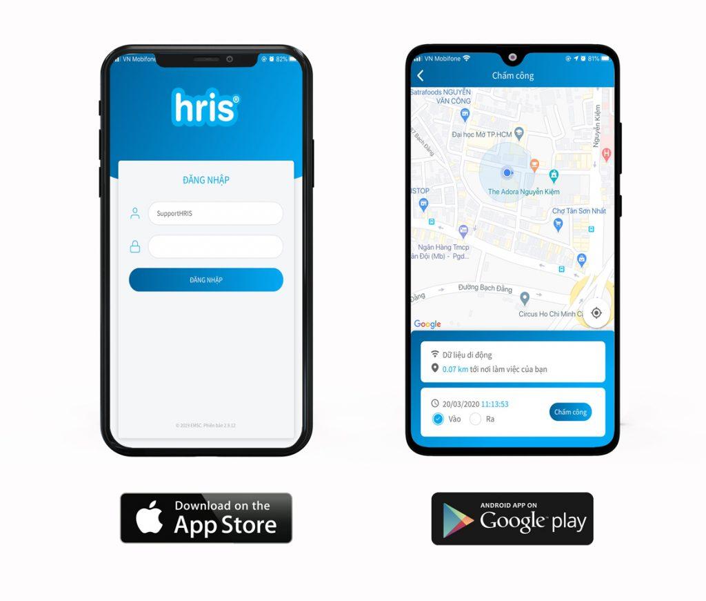 app chấm công HRIS