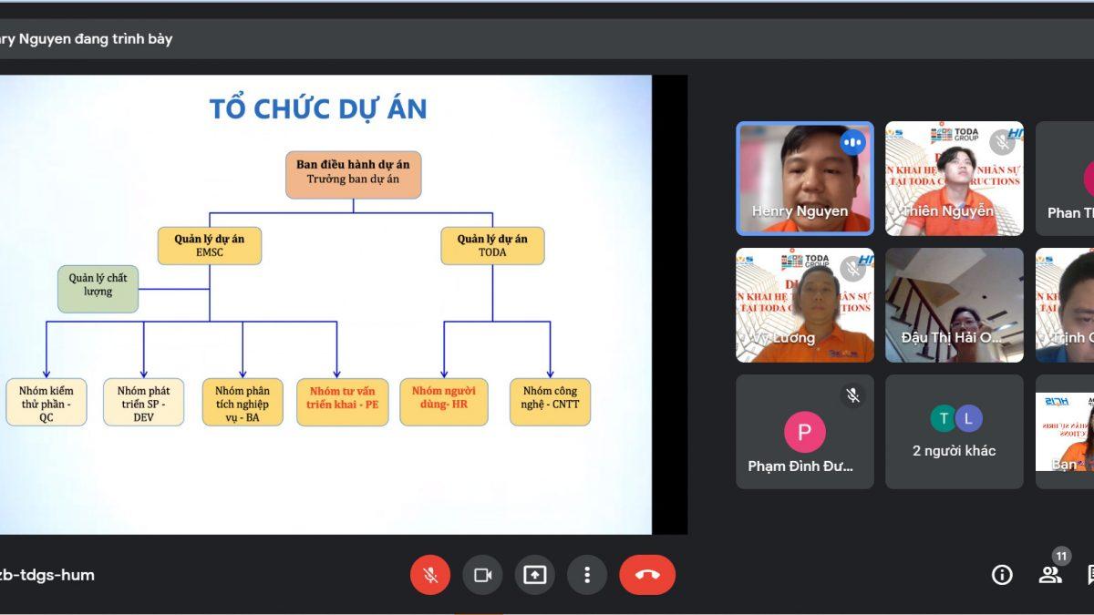 triển khai phần mềm nhân sự cho Toda Việt Nam